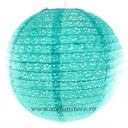 Lampion Bleu  35cm Perforat-Floricele