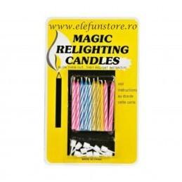 Set 10 Lumanari Magice cu Reaprindere