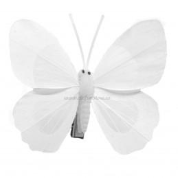 Set 12 Fluturi Royal White cu clestisori