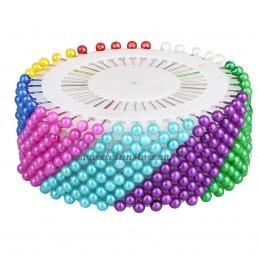 Set 480 ace cu perle multicolore 4 cm