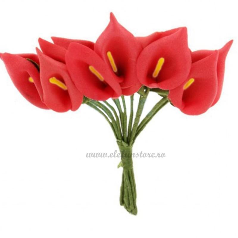 Set 144 cale rosii din spuma 3cm