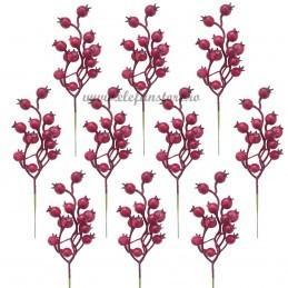 Set 10 Crengute Macese Rosii 22cm