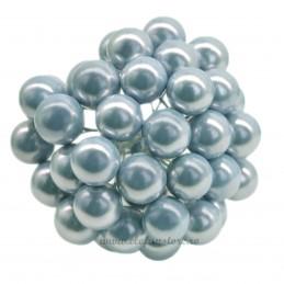 Set 100 Perle Bleu 12 mm, cu sarma