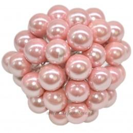 Set 100 Perle Roz 12 mm, cu sarma