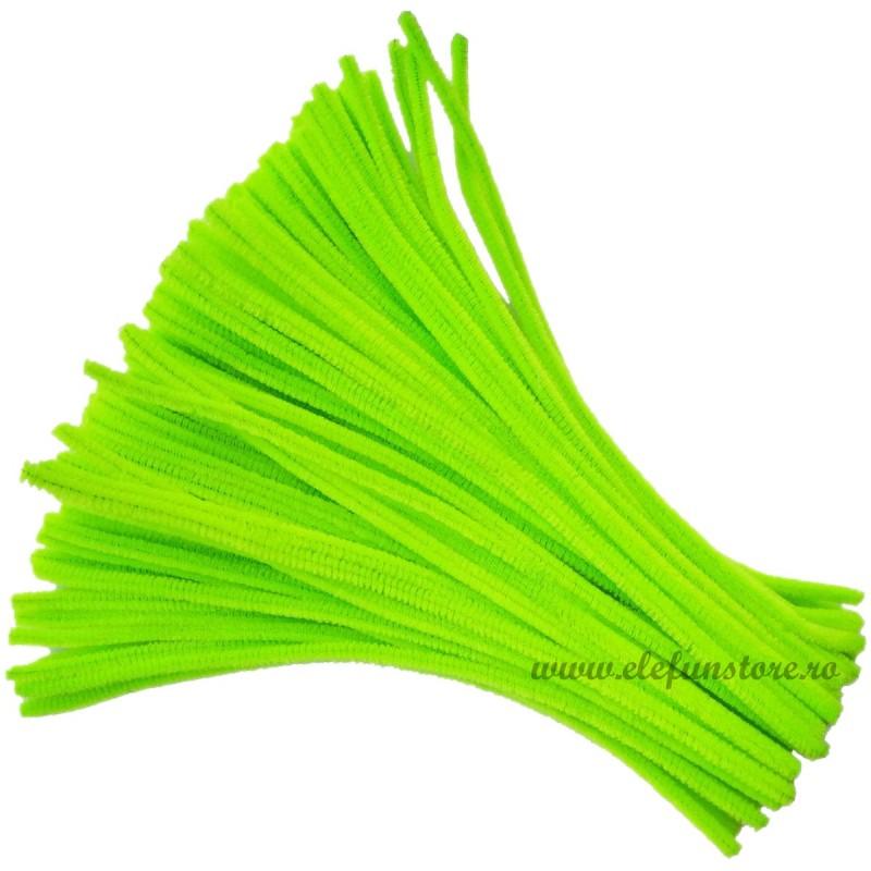 Set 100 Chenille-Sarma Plusata Verde Deschis 30cm*5mm