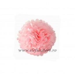 Floare Pom Pom Roz 30 cm