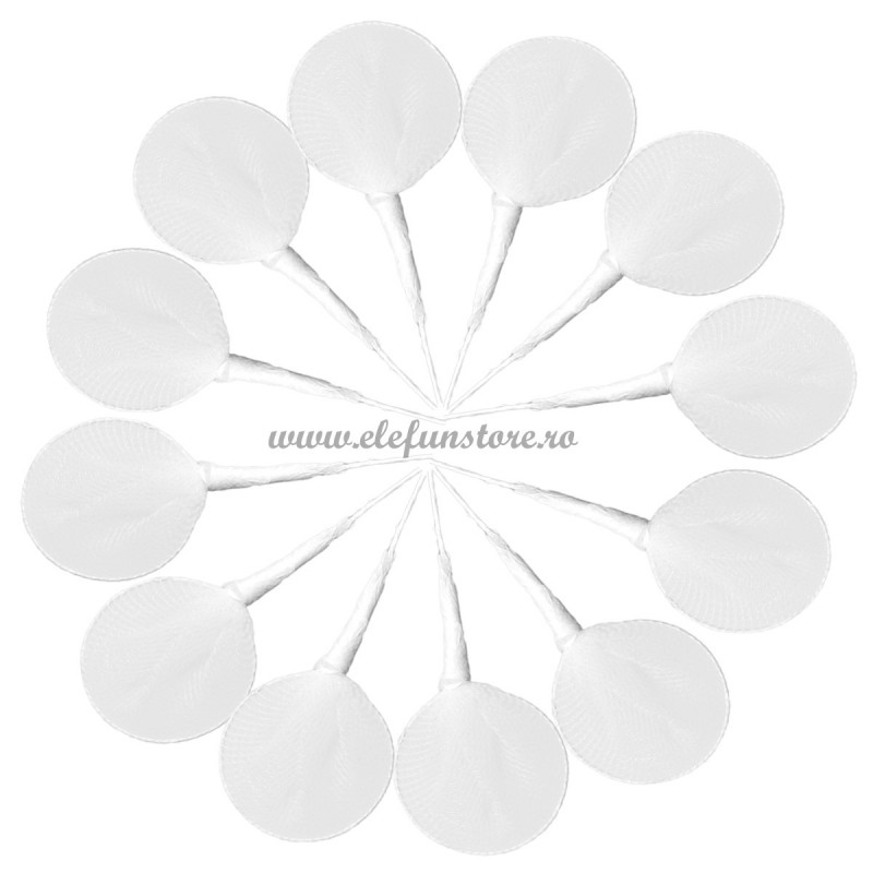 Set 12 Palete Albe din Organza 12 cm pt cocarde