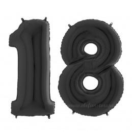 Set Cifre 18 Negre 100 cm Majorat
