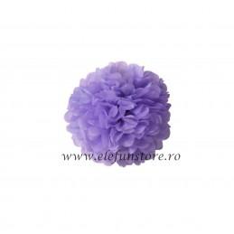 Floare Pom Pom Lila 30 cm