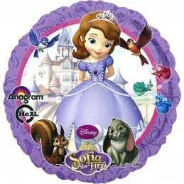 Balon Rotund Sofia The First Anagram 45 cm