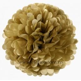 Floare Pom Pom Auriu Inchis 30 cm