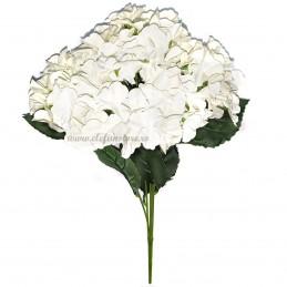 Buchet 5 hortensii albe 50 cm