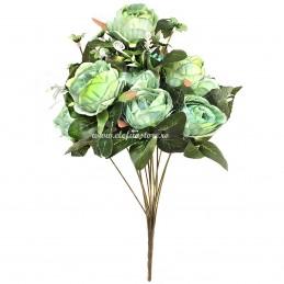 Buchet mix trandafiri verde deschis, 12 fire 50 cm