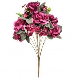 Buchet mix trandafiri mov, 13 fire 50 cm