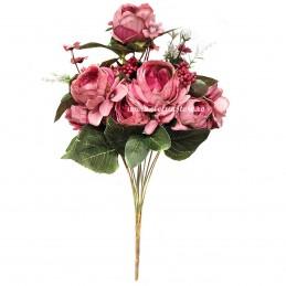 Buchet mix trandafiri roz, 12 fire 50 cm