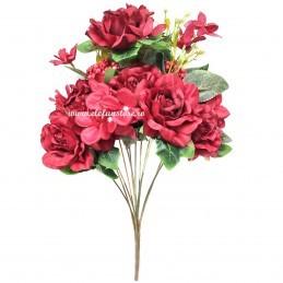 Buchet mix trandafiri rosii, 12 fire 50 cm