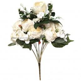 Buchet mix trandafiri albi, 12 fire 50 cm