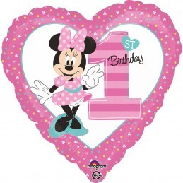 Balon Inima Cifra 1 Minnie Mouse Anagram 45 cm