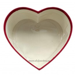Set 3 cutii inima catifea negre 30-26-21 cm