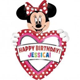 Balon Personalizabil Minnie Mouse Anagram 83*60 cm