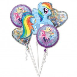 Buchet 5 Baloane My Little Pony Anagram