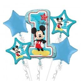 Buchet 5 Baloane Mickey Prima Aniversare Anagram