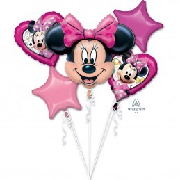 Buchet 5 Baloane Minnie Mouse Anagram