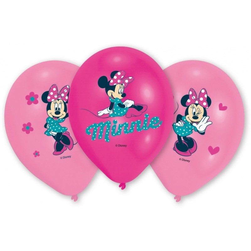 Set 6 Baloane Asortate Minnie Mouse Anagram 28 cm