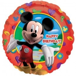 Balon Mickey Mouse Happy Birthday Anagram 45 cm