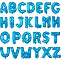 Baloane Litere Albastre cu Stelute 40 cm