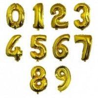 Baloane Cifre Aurii 40 cm