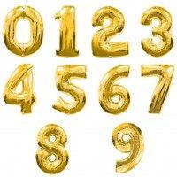 Baloane Cifre Aurii 100 cm