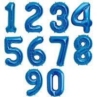 Baloane Cifre Albastre Slim 100 cm