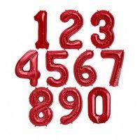 Baloane Cifre Rosii Slim 100 cm