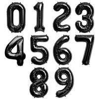 Baloane Cifre Negre Slim 100 cm