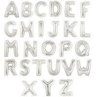 Baloane Litere Argintii 100 cm