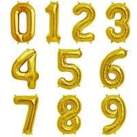 Baloane Cifre Aurii Slim 100 cm