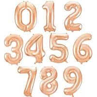 Baloane Cifre Rose Gold Slim 100 cm